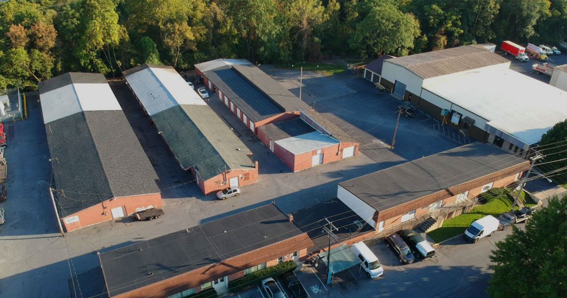 Reading self storage aerial view